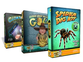 Discover with Dr. Cool- Pan for Gold + Glow Rocks + Spider