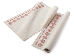 Natural Snowflake Placemat 12-Ct Linen
