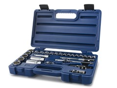 "26 PC 3/8"" Drive Indo Socket Set w/ Case"