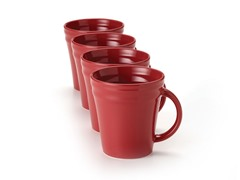 Red Mugs Set of (4) 12 oz.