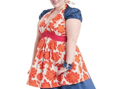 Blood Orange Tart Full Figured Apron: 2X