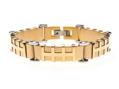 14k Gold Plated Heavy Link Bracelet