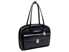 Lyndon Leather Ladies Briefcase - Black