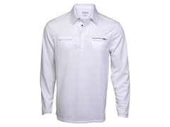 Ripper Long-Sleeve Polo - Wht/Blueprint