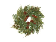 Mixed Cedar & Juniper Wreath 24""