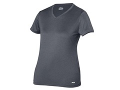 Fila Womens Short Sleeve V-Neck, Blk (M)