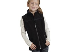 Black Fleece Vest (XS-XL)