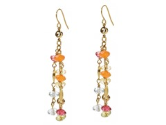 Relic RJ1652710 Gold With Multicolor Beads Earrings