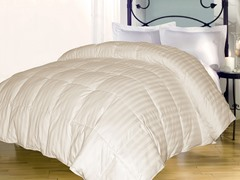 Stripe Down Alternative Comforter-Ivory-3 Sizes