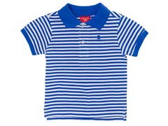 Blue Striped Pique Polo (12M-24M)