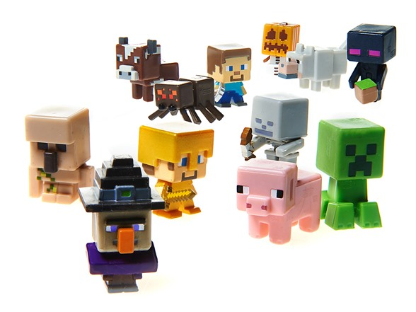 Minecraft Toys And Mini Figures For Kids : Minecraft collectible figures pk case kids toys