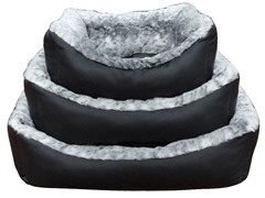 Extra Plush, Faux Leather & Fur Bed - 3 Sizes
