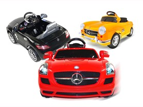 Mercedes SL 6V Ride-Ons 2-Models, 3-Colors
