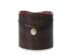 3 LED Mottled Wax Flameless Candle Dk Brown 6x6