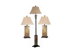 Moroccan Leaf 3 Pack Table/Floor Lamp Set