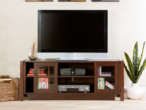 flat screen tv in armoire
