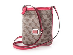 Guess Skya Mini Crossbody Top Zip Handbag, Cherry