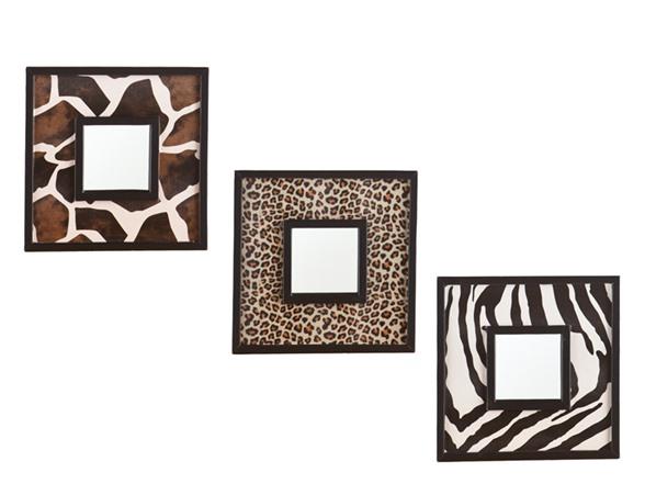 Animal Print 3pc Decorative Mirror Set