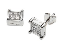 Sterling Silver Square RingBox Studs