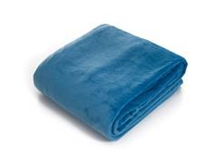 Lavish Home  Super Soft Flannel Blanket- Blue