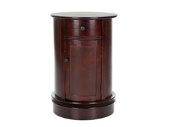 Tabitha Oval Cabinet - Cherry