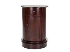 Tabitha Oval Cabinet - Cherry