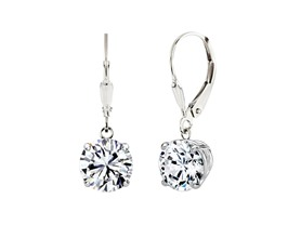 Sterling Silver Swarovski Element Dangle Earrings- Pick Size