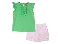 Green Anchor 2-Piece Short Set (12M-4T)