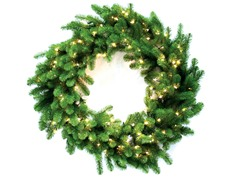 "Nottingham Pine 48"" Wreath Prelit Clear"