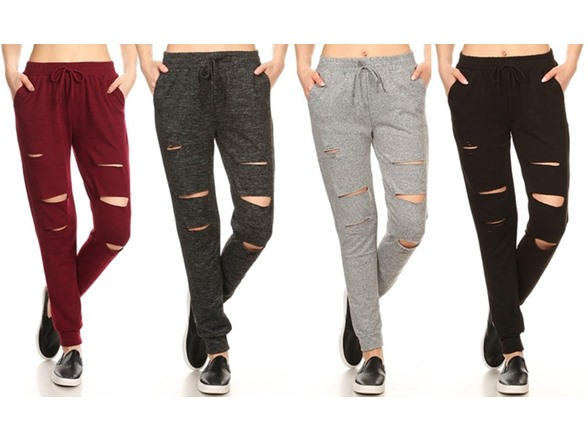 Image of Women's Knit Cutout Jogger Pants