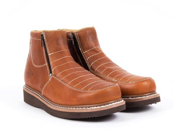 bonanza zipper work boots fashion. Black Bedroom Furniture Sets. Home Design Ideas