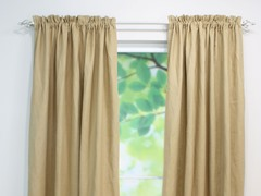 Circa Rod Pocket Curtain Panel - Barley - 3 Lengths
