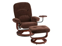 Recliner and Ottoman - Chocolate