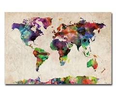 Urban Watercolor World Map