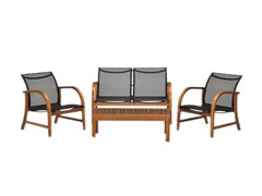 4-Piece Eucalyptus Deep Seating Set