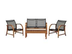 4-Piece Eucalyptus Deep Seating Set
