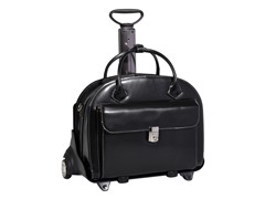 Glen Ellyn Leather Wheeled Ladies Briefcase