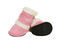 Pink Shearling Duggz Shoes