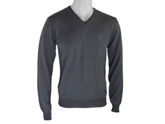 Versace V Neck Sweater, Gray