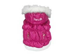 Pink Metallic Fashion Parka with Hood