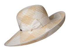 Orchid Straw Sun Hat, White/Natural
