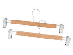 Wooden Skirt Hanger Natural 2-pc