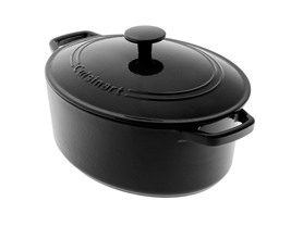 5.5 Qt. Cast Iron Casserole - Black