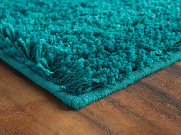 Cozy Teal Polypropylene Area Rug 4 Sizes