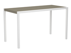MOD Bar Table, 36-Inch - White/Sand