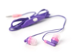 Pink Audio In-Ear Earbuds w/ Inline Mic