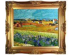 Harvest with Irises Collage
