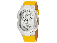 Women's Dual Time Yellow Leather Watch