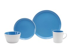 Oneida 16 pc Blue Color Burst Dinner Set