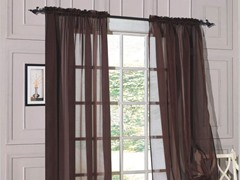 Set of 2: Luxurious Sheer Panels Chocolate